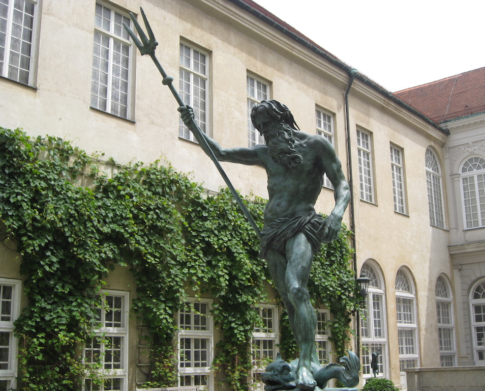 Statue in the courtyard at the Munich Residence