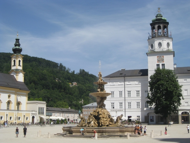 Residence Square and Residence Fountain in Salzburg