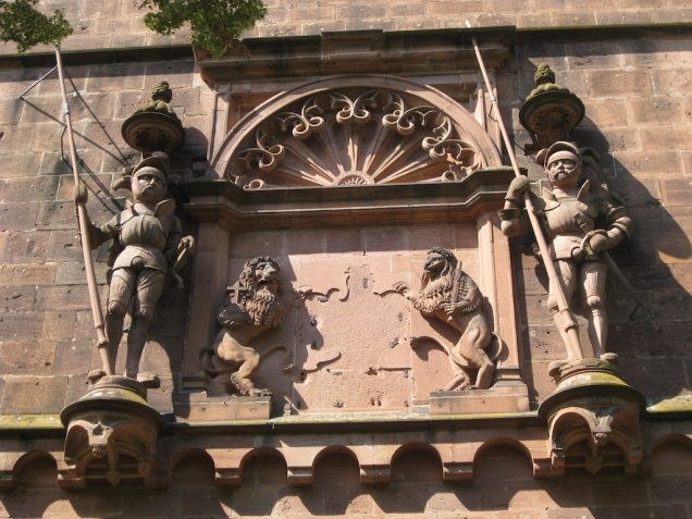 Facade details at Heidelberg Castle