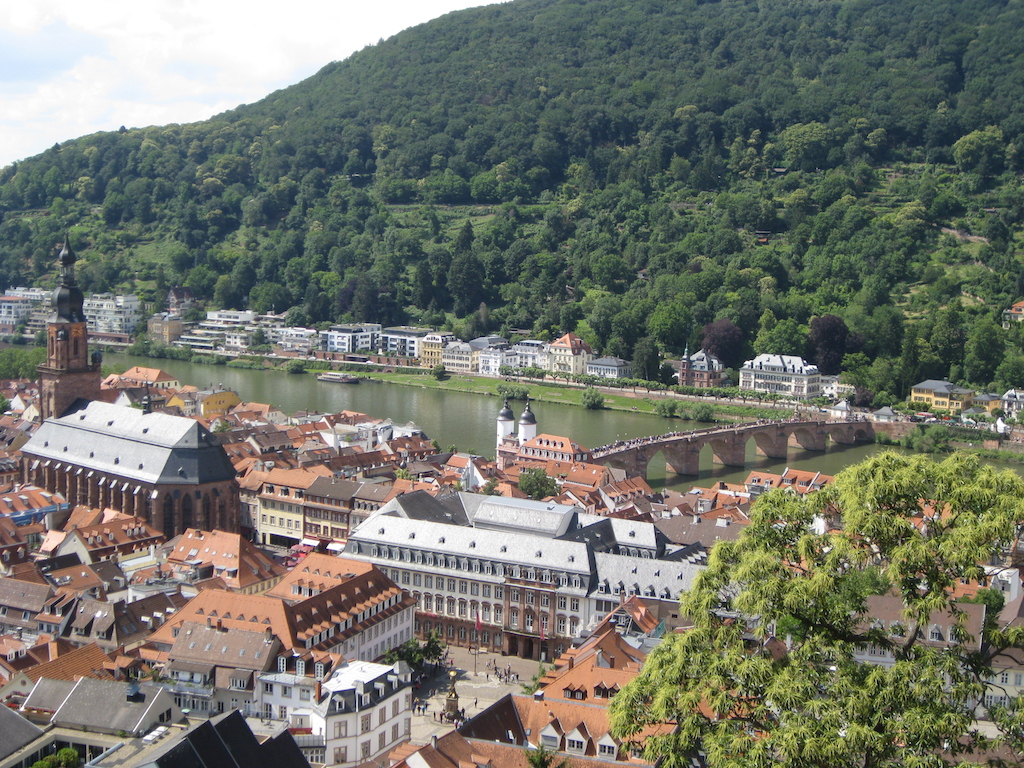 Heidelberg panorama by the Neckar River