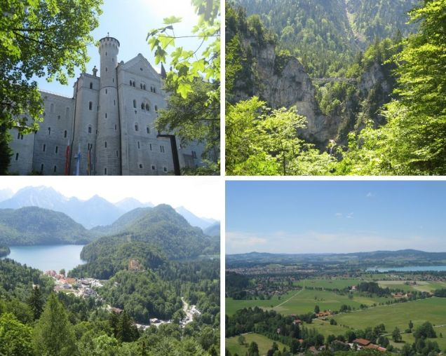 Views from Neuschwanstein Castle