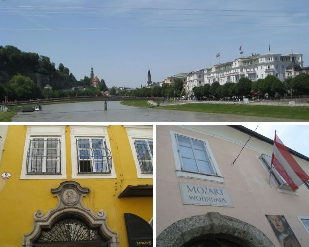 Salzach River and Mozart's Homes
