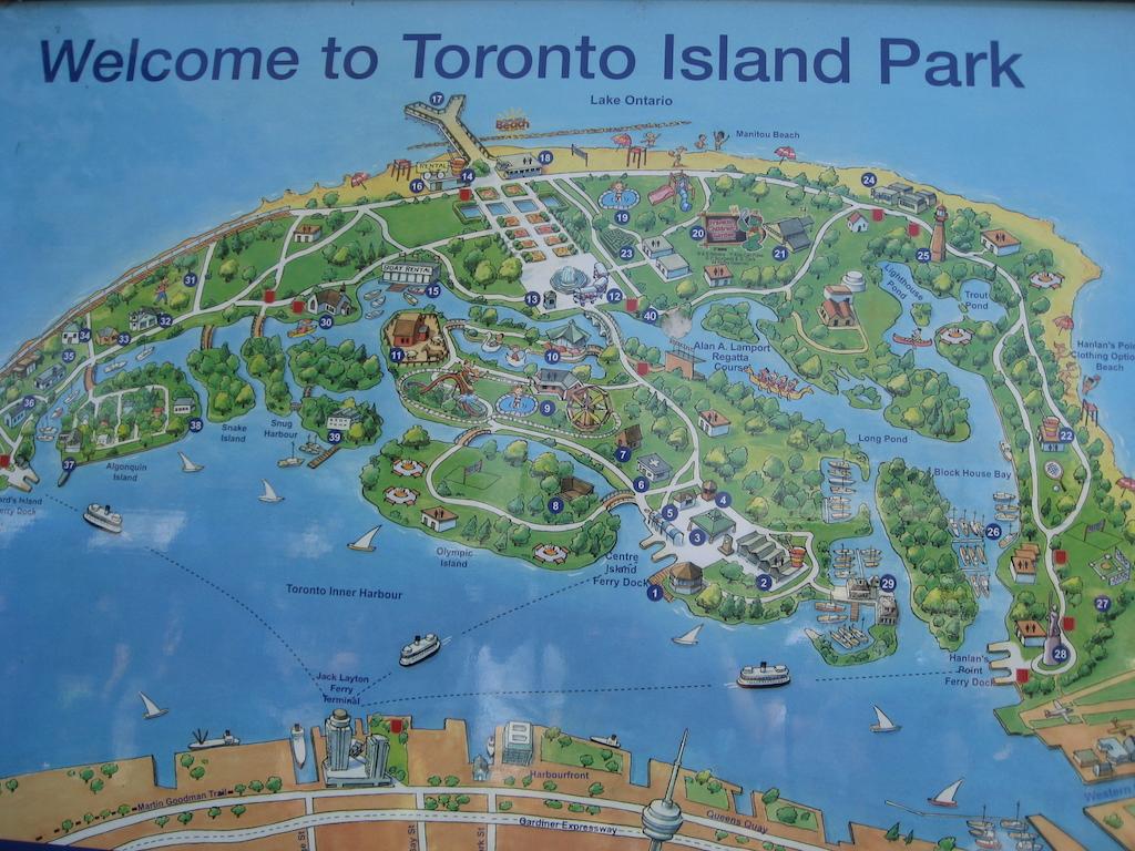 Map of Toronto Island Park