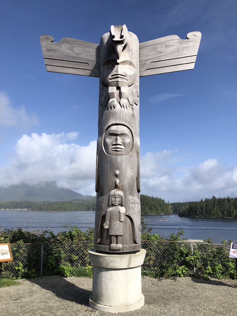 Totem pole by Joe David, Tofino
