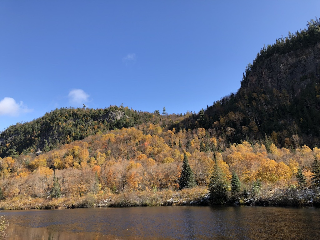 Autumn colours by the Agawa River