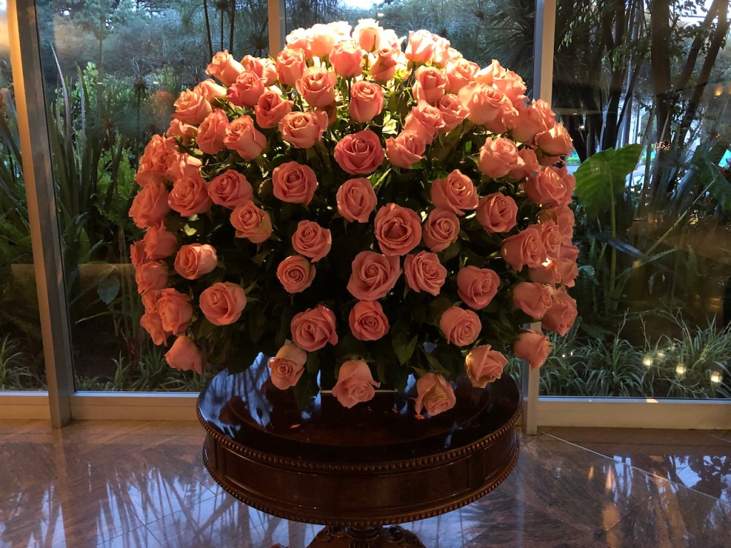 Roses at a hotel in Quito