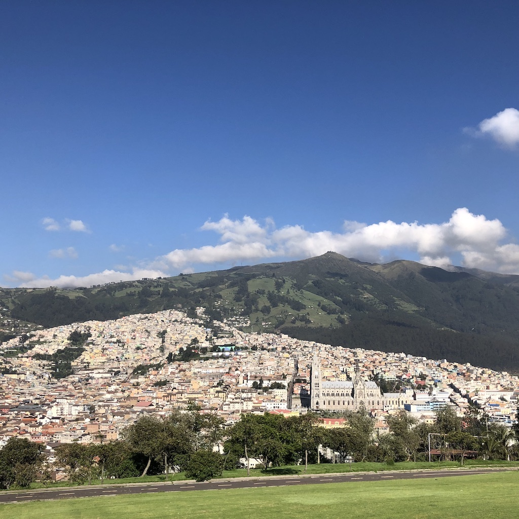 View of Quito from Itchimbia Park