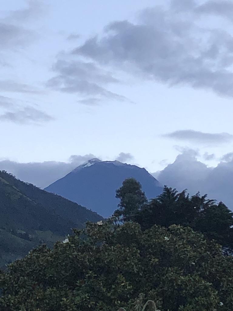 Tungurahua volcano at dusk