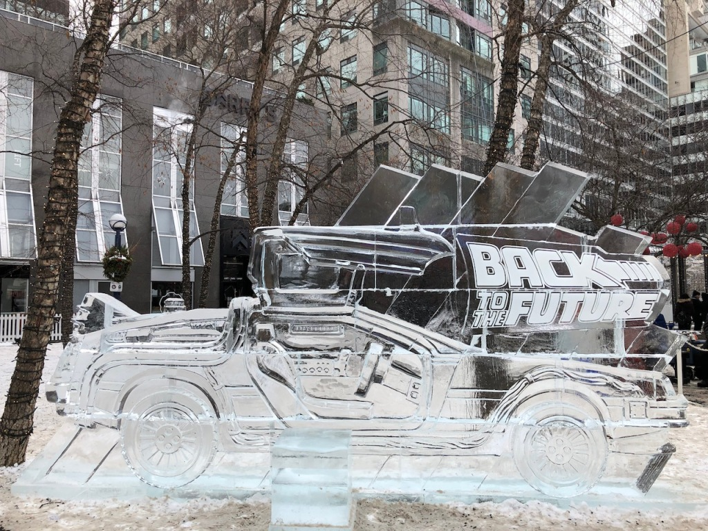 Back to the Future ice sculpture