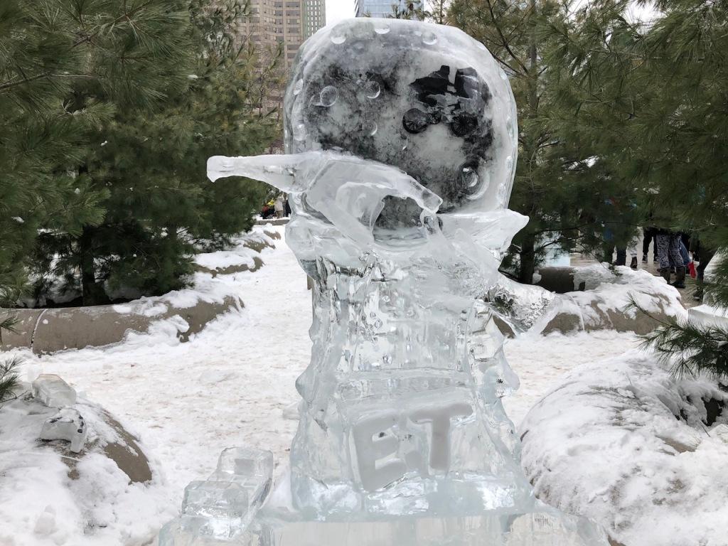 E.T. ice sculpture