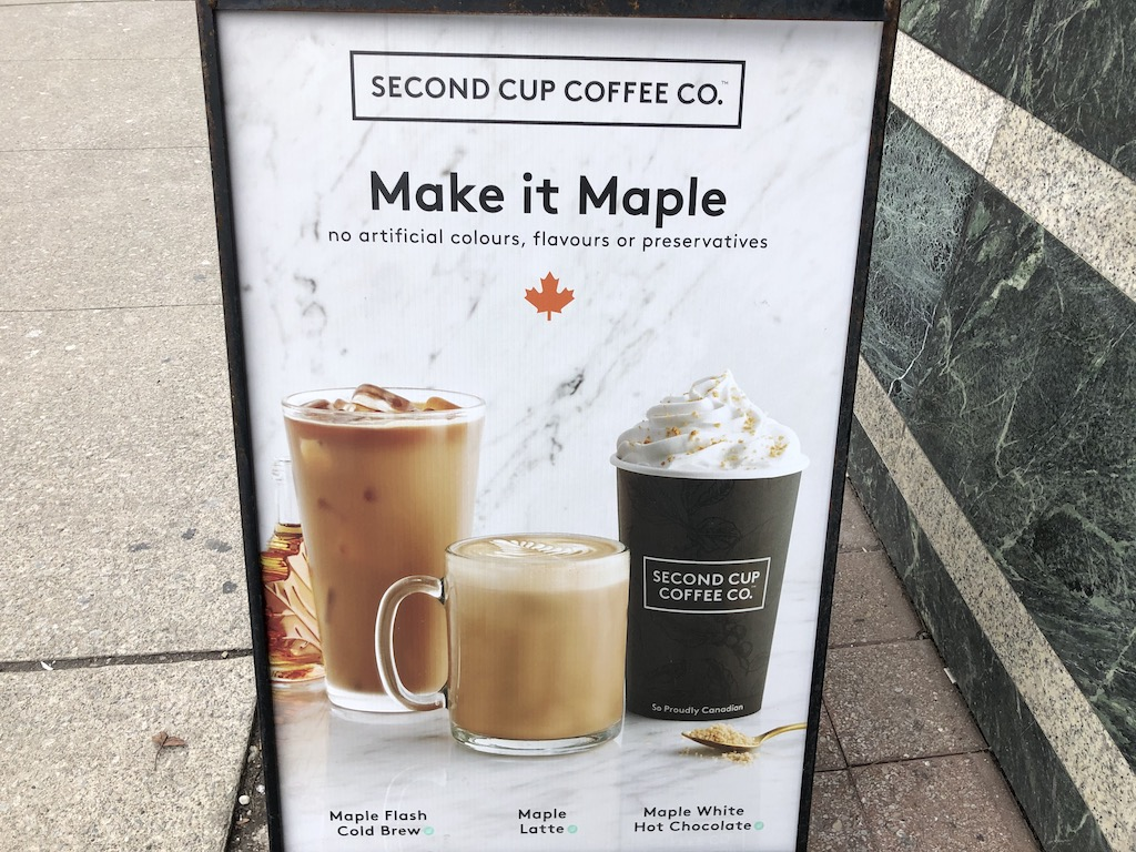Maple Fresh Coffee Brew, Maple Latte, and Maple White Hot Chocolate