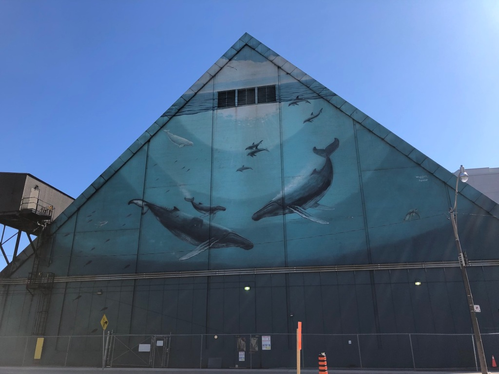 Heavenly Waters mural, 1997, Wyland.
