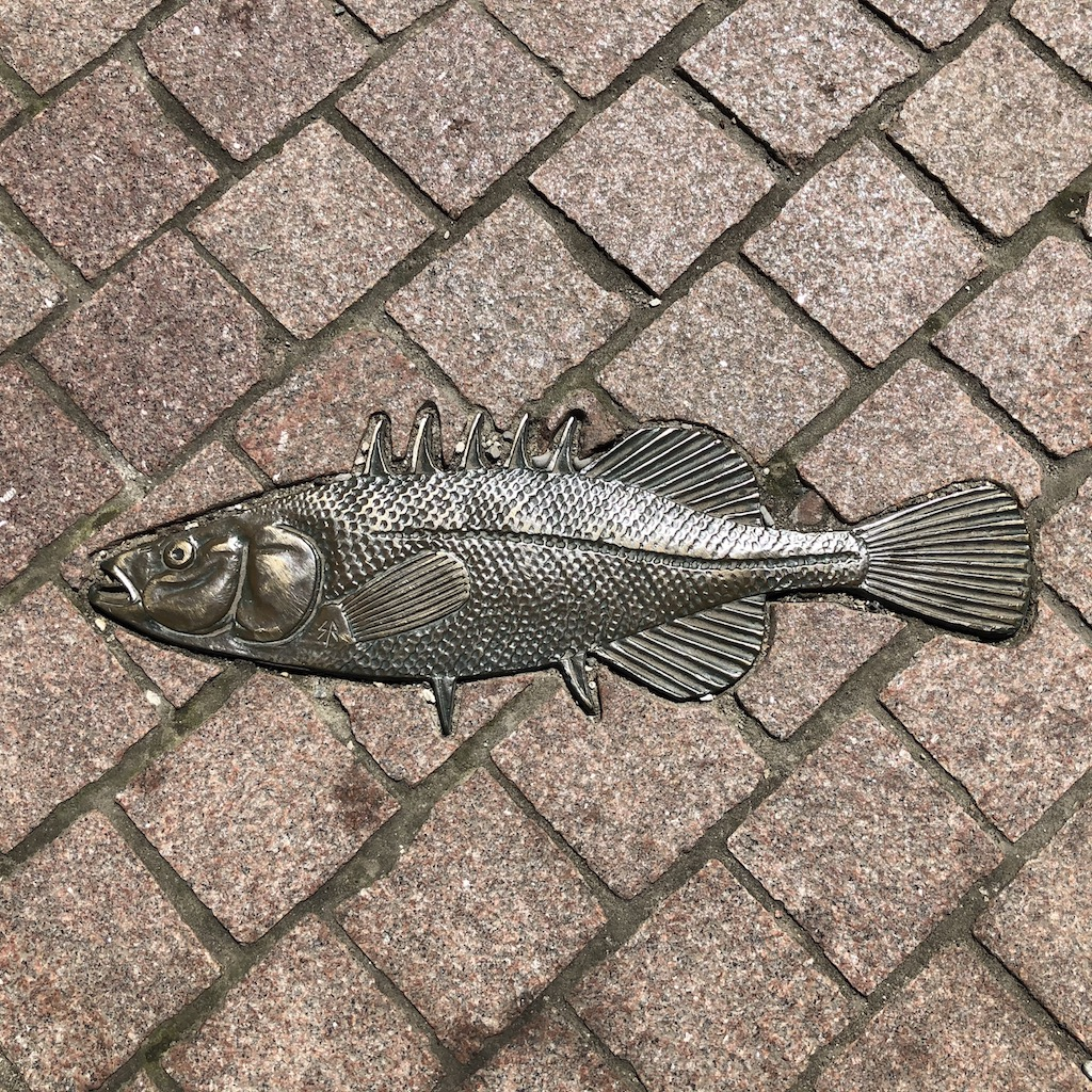 Fish sculpture by Stephen Radmacher.