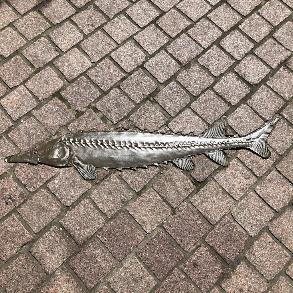 Fish sculpture.