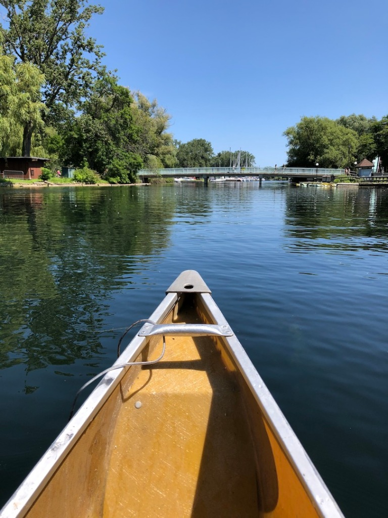 Canoe paddling on Toronto Islands