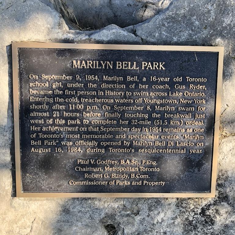 Marilyn Bell Park history.