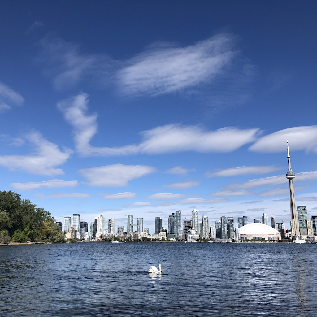 Toronto's skyline from Toronto Islands.