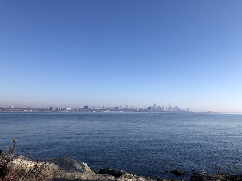 View of the Toronto skyline at Humber Bay Park East