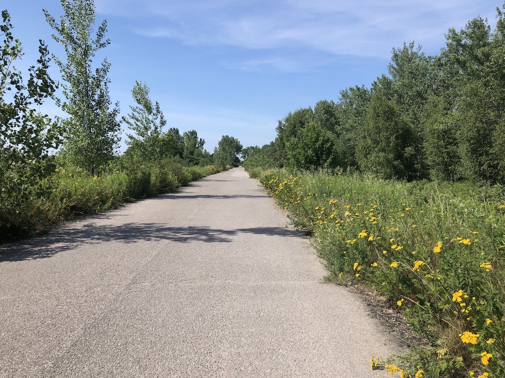 Multi-use trail in Tommy Thompson Park