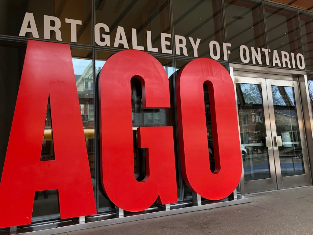 Art Gallery of Ontario entrance.