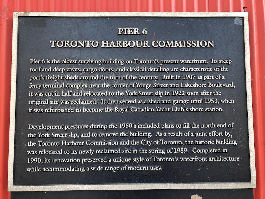 Pier 6 plaque.
