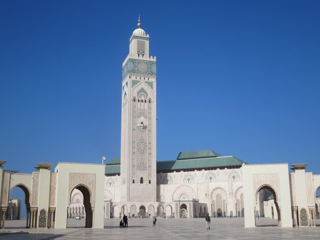 Hassan II Mosque in Casablanca.