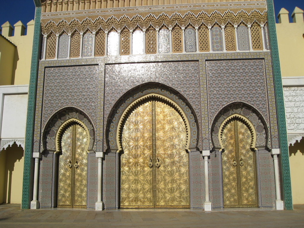 Doors at the Royal Palace, Fez, Morocco.