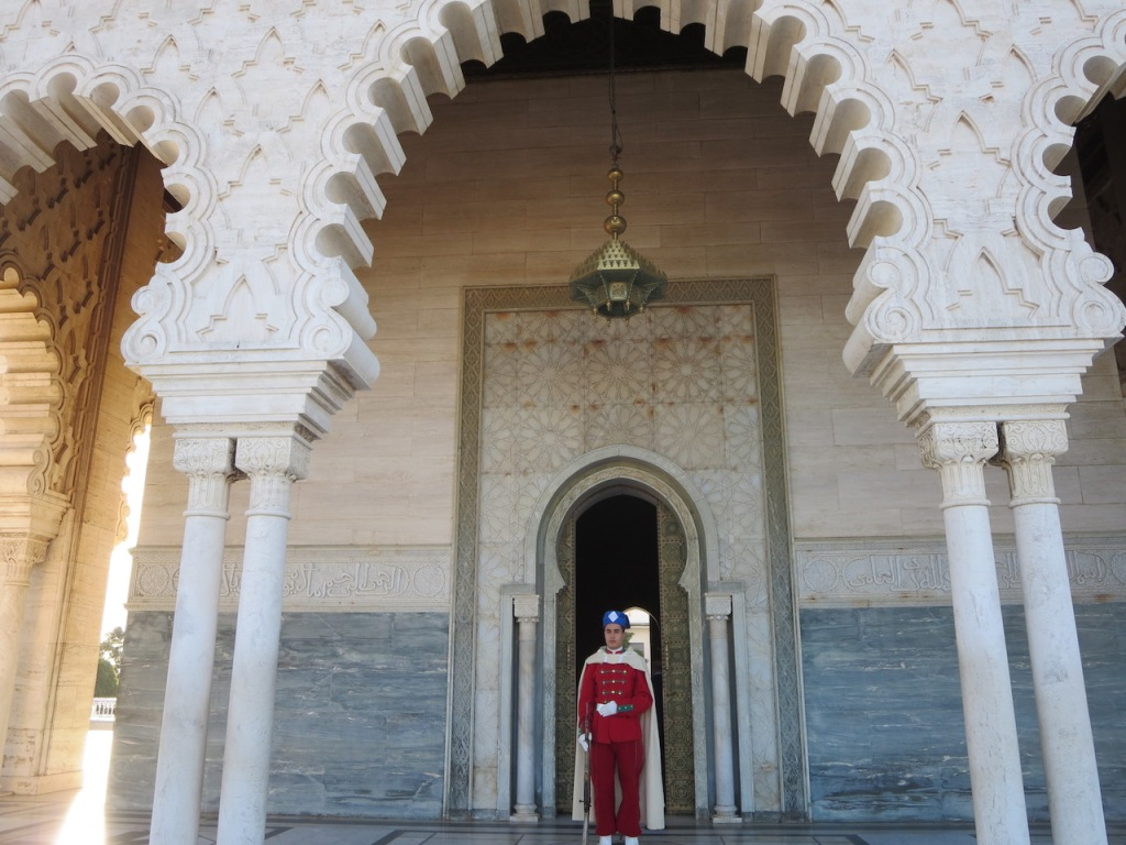 Royal Guard at the Mausoleum of Mohammed V in Rabat, Morocco.