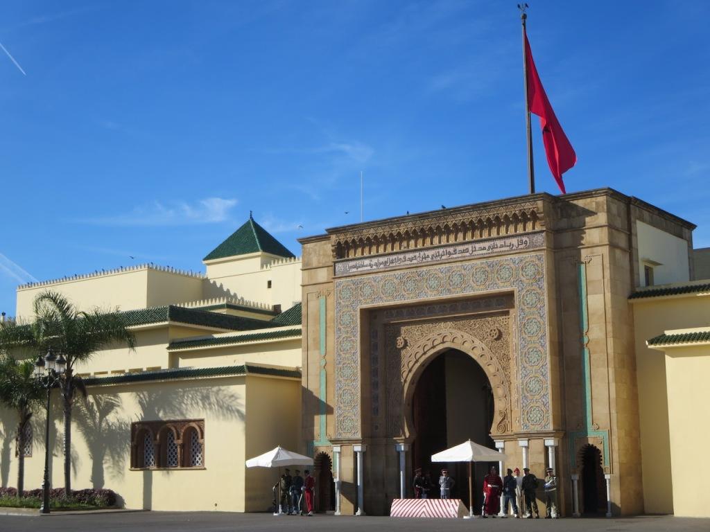 The Royal Palace entrance, Rabat, Morocco.