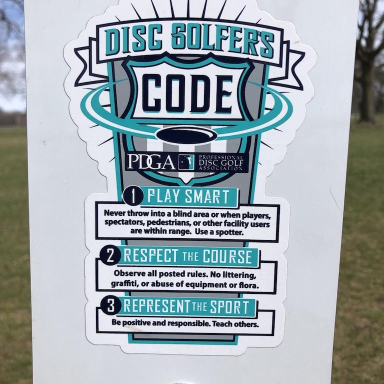 Disc golfers code.