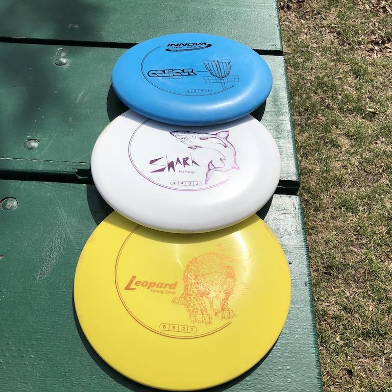 Disc golf discs.