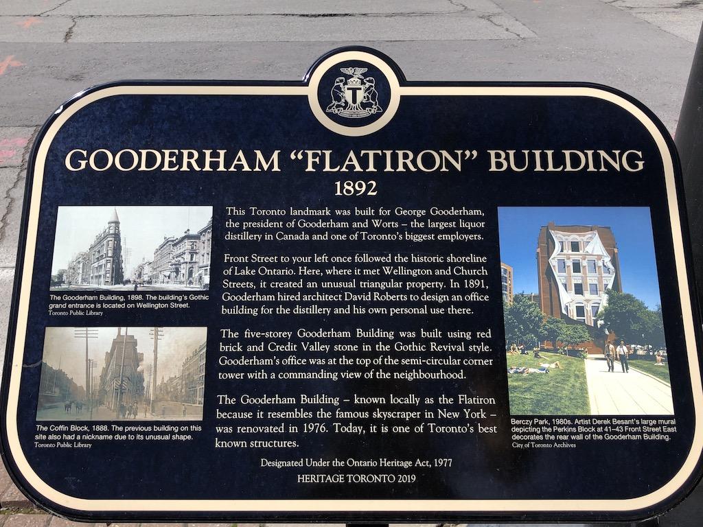 """Gooderham """"Flatiron"""" Building plaque."""