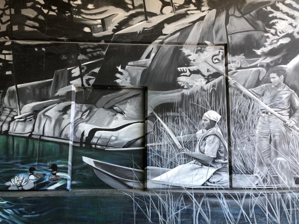 Water Wall, Simcoe Murals.