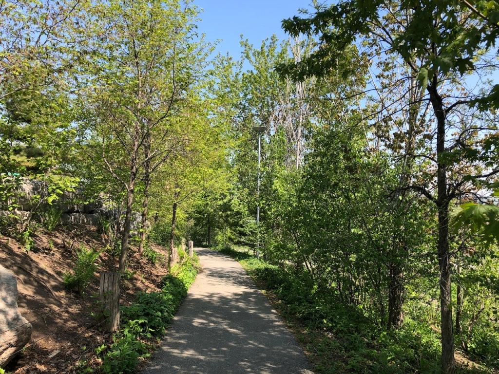 Corktown Common trail.