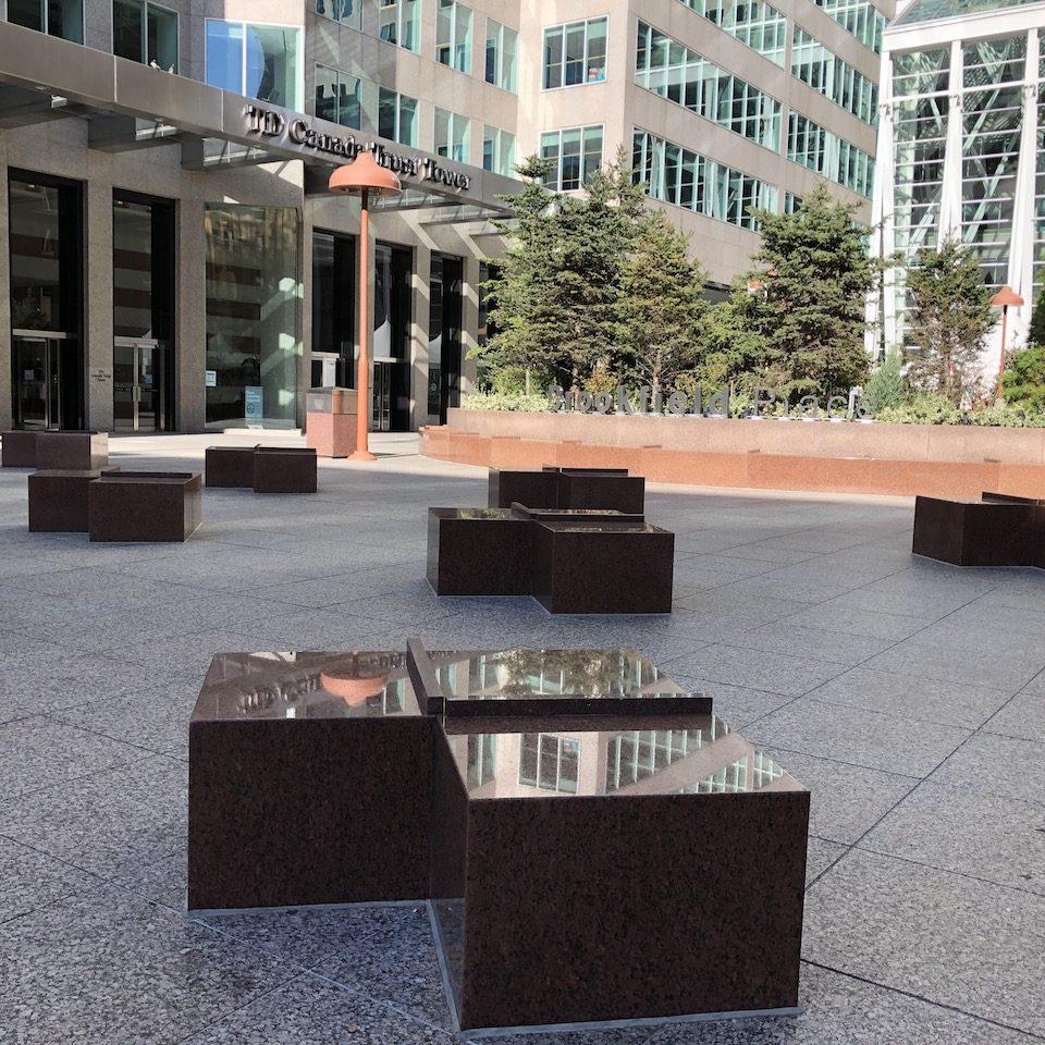 Garden Court sculptures by Scott Burton.