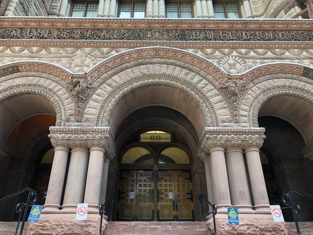 Old City Hall main entrance.