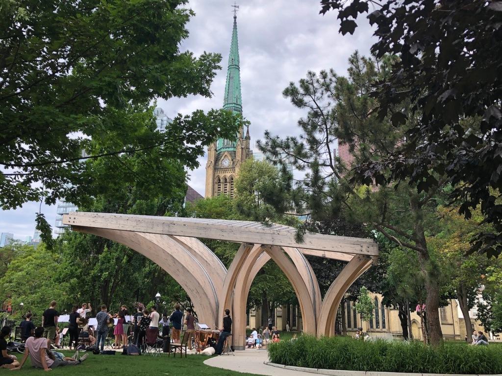 St. James Park Michael Comstock Pavilion.
