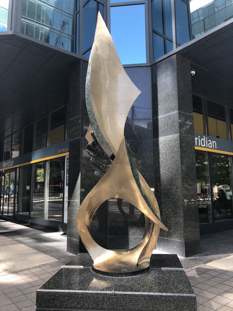 Marlin sculpture by Andrew Posa, 1987.