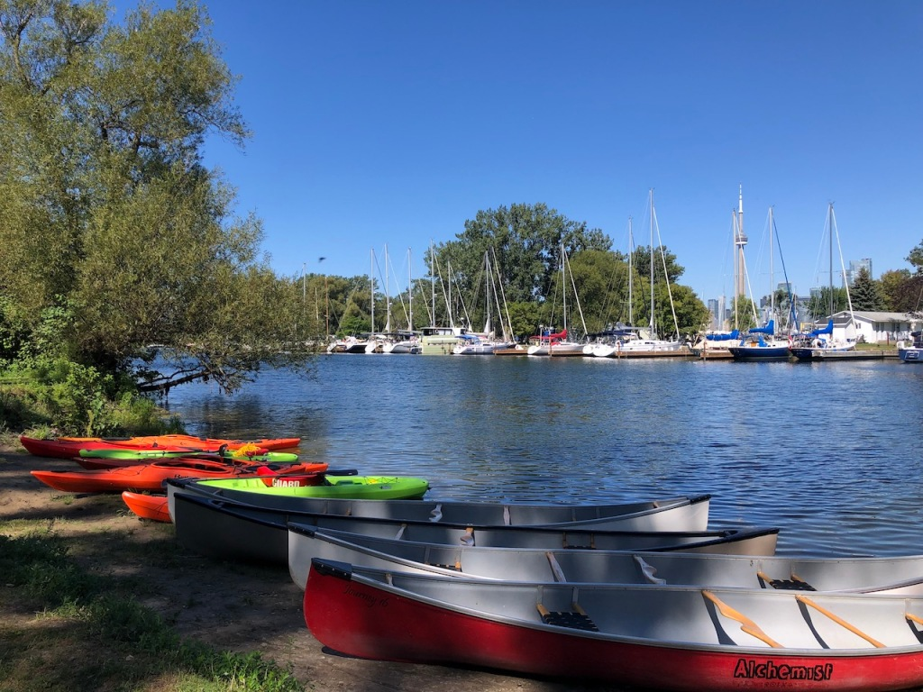 Canoes and kayaks.