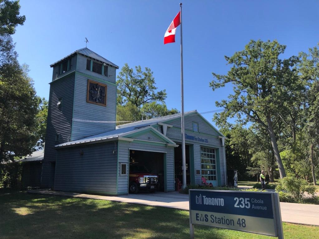 Ward's Island fire station.