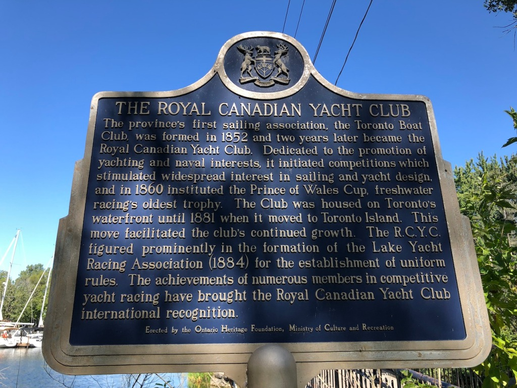 The Royal Canadian Yacht Club history.