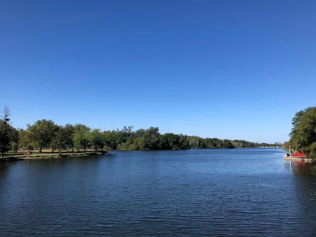 Gorgeous view from Centre Island bridge.