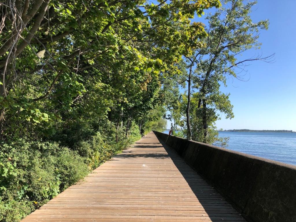 Boardwalk to Ward's Island.