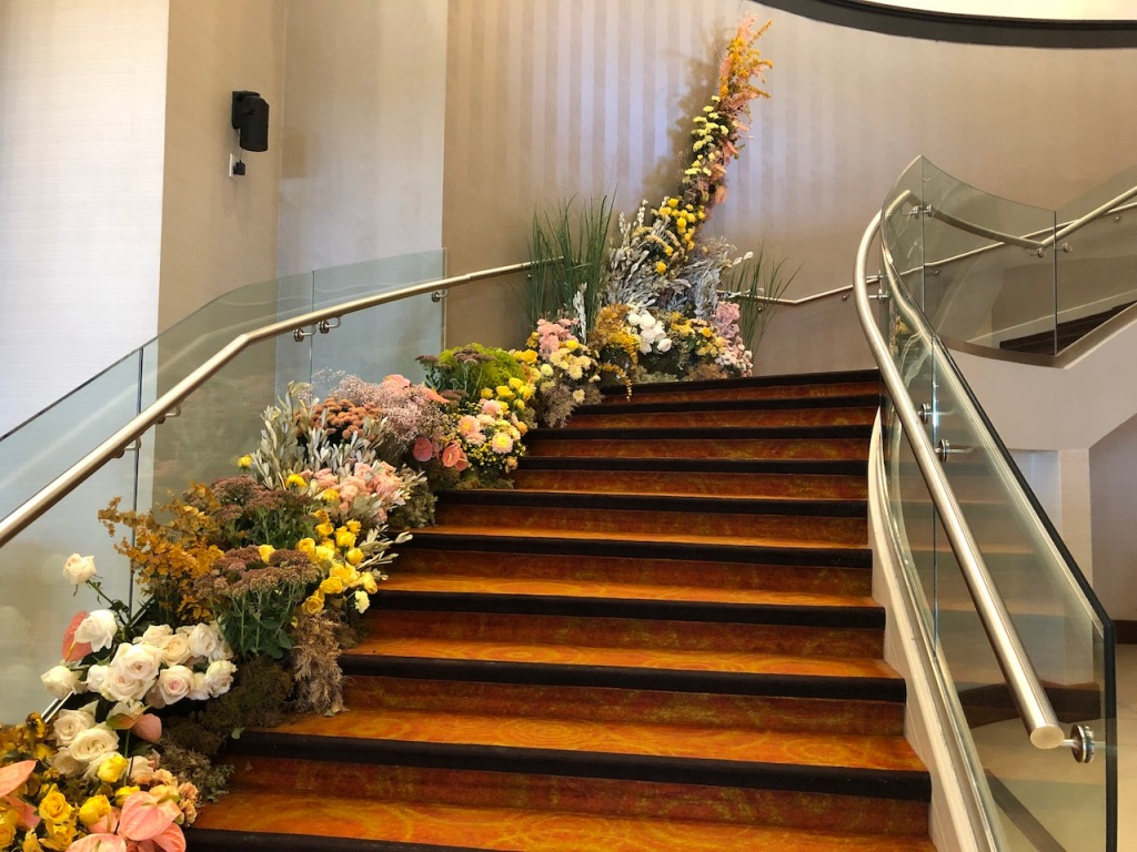 Floral Staircase.