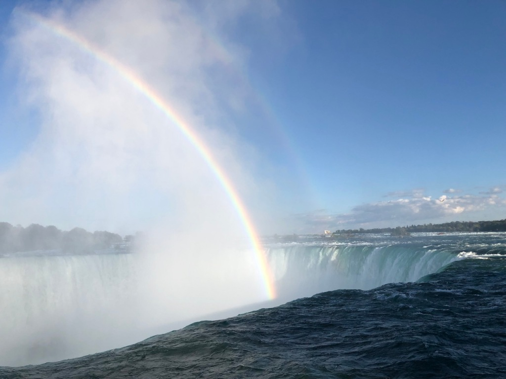 Horseshoe Falls with two rainbows.