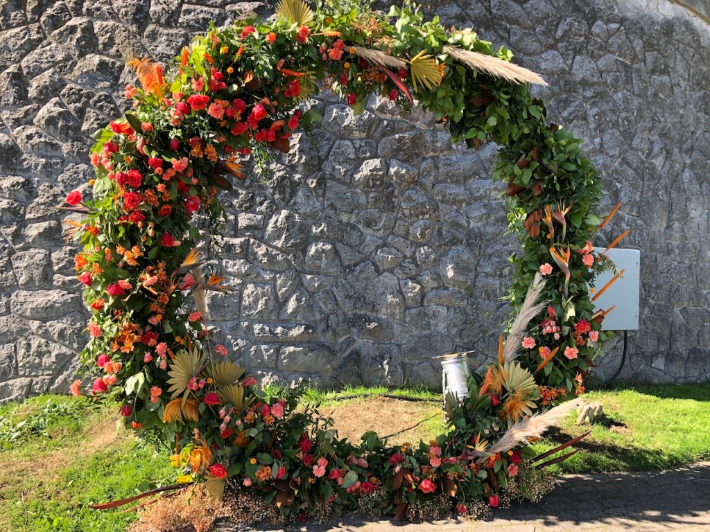 Orange Floral Hoop in remembrance of the Residential School Children